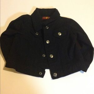 Black denim jacket 7 for all mankind size 3 months